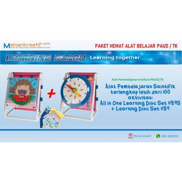 Paket Hemat Alat Pembelajaran Saintifik PAUD/TK: All in one learning disc set 1189S + Learning disc set 1189