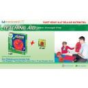 Paket Hemat Alat Pembelajaran Belajar konsep jam : 1 Standing Magnetic Clock for Teacher + 10 Student Clock